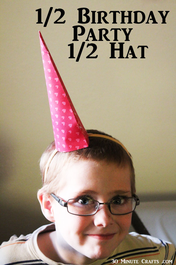 Half Birthday Party Hat