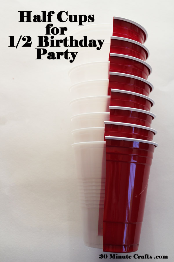 half cups for half birthday party