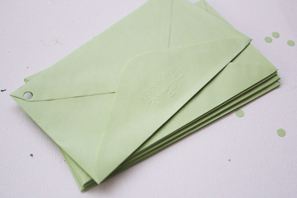 holes in envelopes