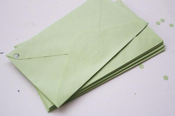 holes in envelopes
