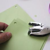 line up holes in envelopes