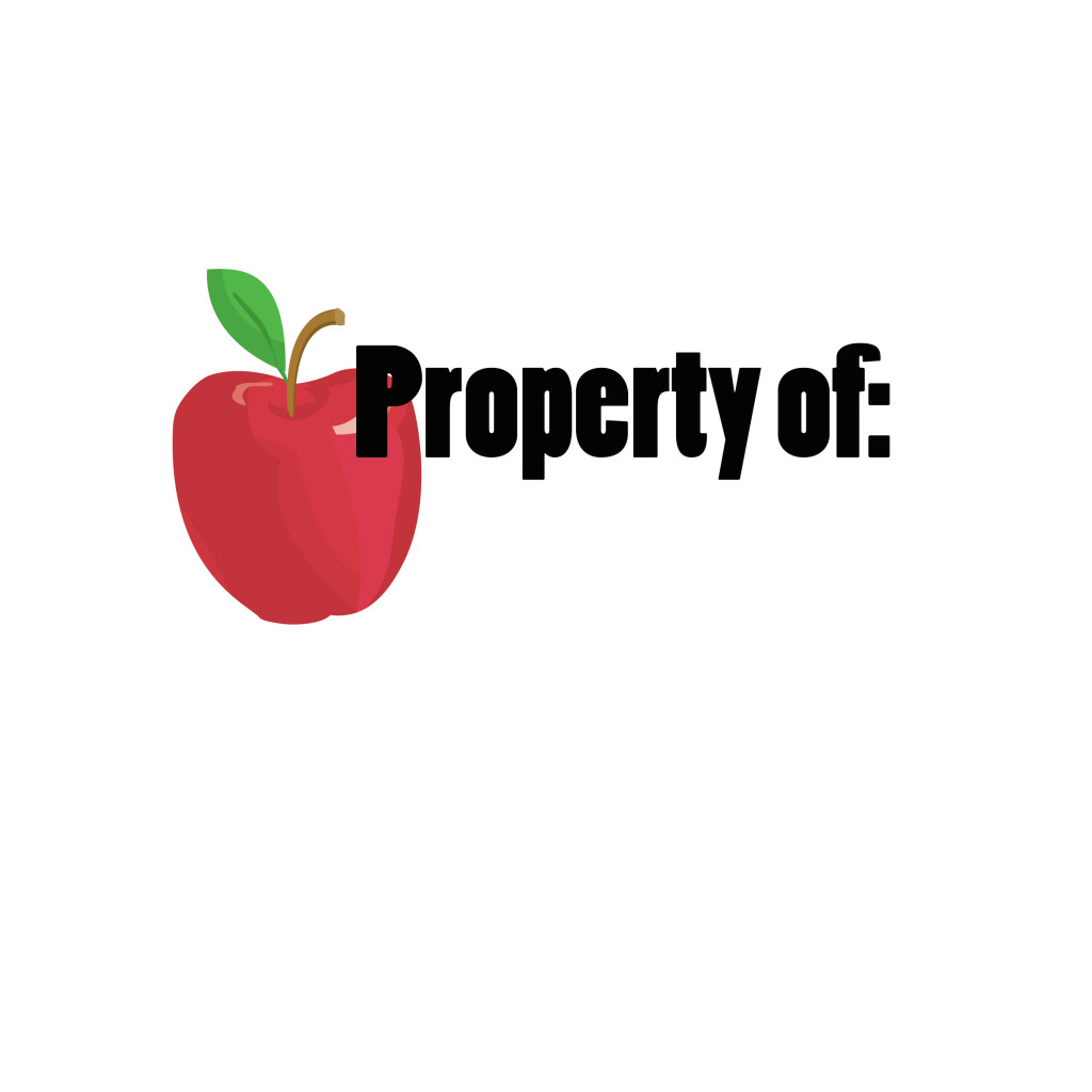 online labels property of teacher name