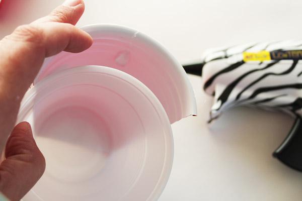 put cup inside half cup
