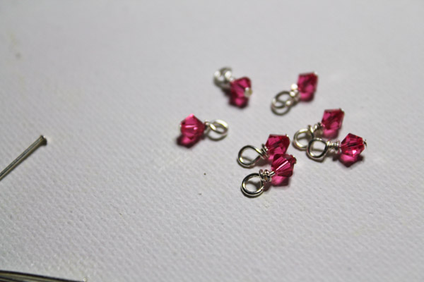 wire wrapped mini charms