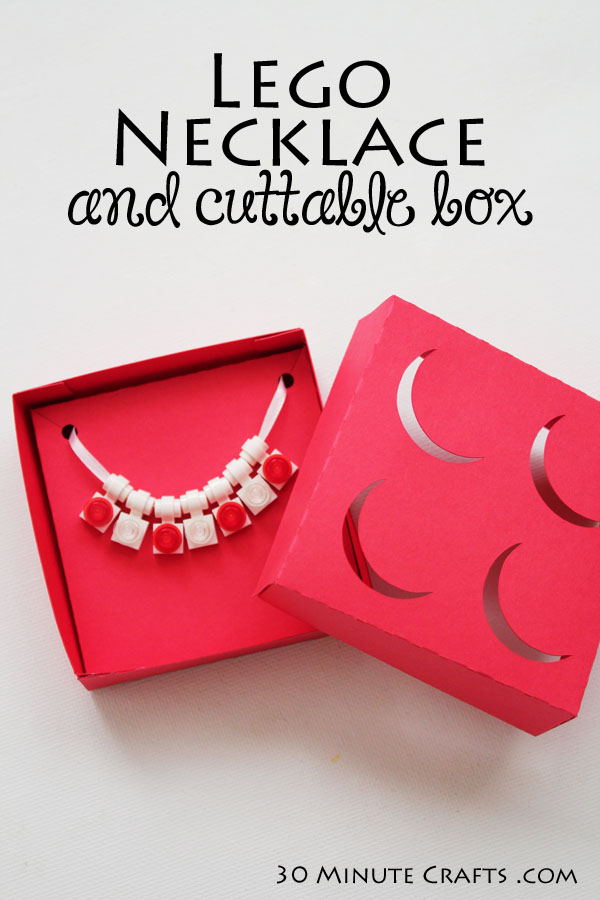 DIY Lego Necklace and Cuttable Box