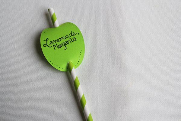 Lemonade Margarita Drink Marker Straw