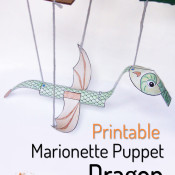 Printable Dragon Marionette - Create in the Chaos