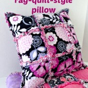 Rag Quilt Pillow - So Sew Easy
