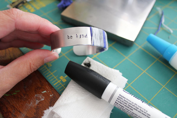 add ink to stamping