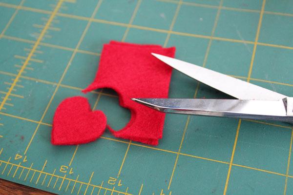 cut heart shape