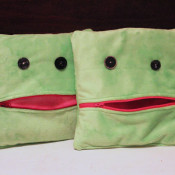 finished mouthy zippered pillow pockets
