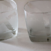 modern etched glasses