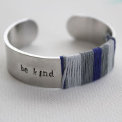 stamped and wrapped bracelet