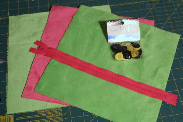 supplies for mouthy zippered pillow