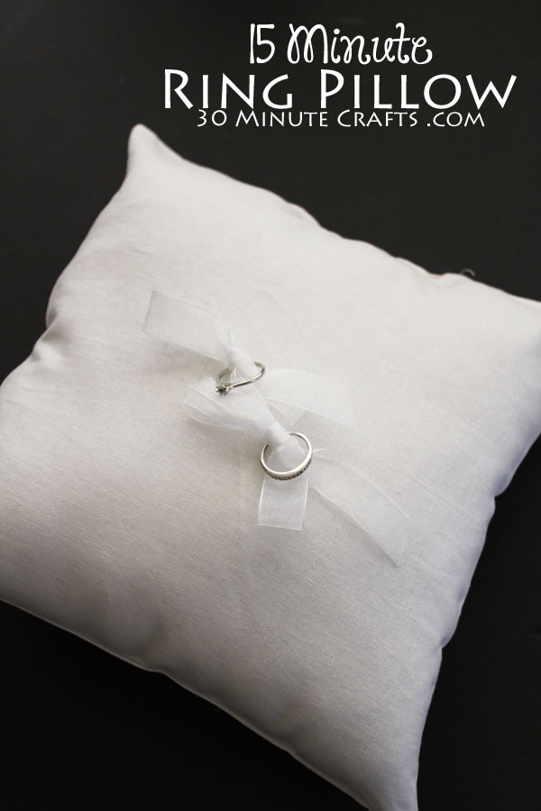 15 Minute Ring Pillow