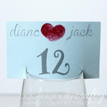DIY Fingerprint Table Numbers for Weddings