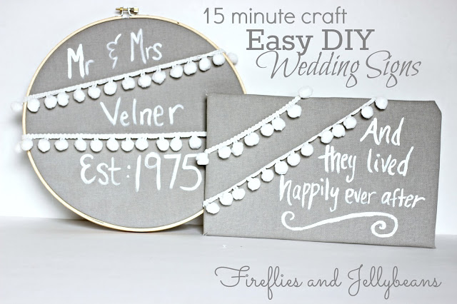 Easy DIY Wedding Signs 1