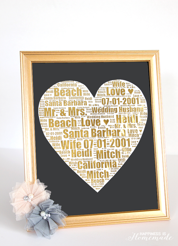 Gold-Foil-Wedding-Print-Gift-Idea