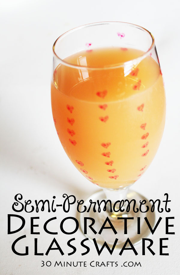 Semi-permanent Decorative Glassware