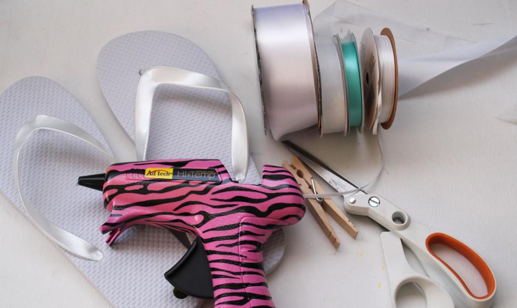 supplies for bridal flip flops