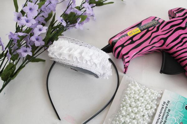 supplies for flower girl headband