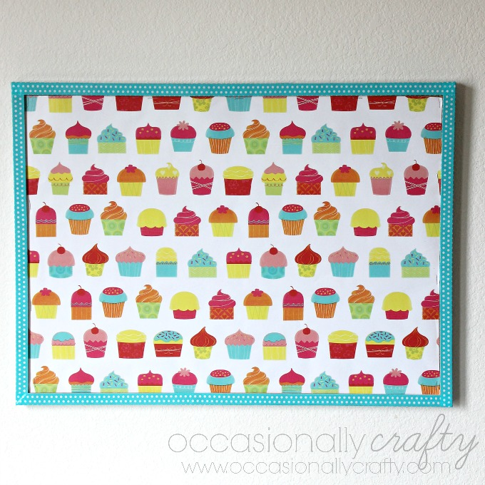 Cute Cork Board Makeover
