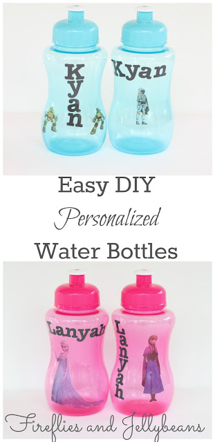 Easy DIY Personalized Water Bottles 2