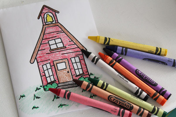 color schoolhouse image