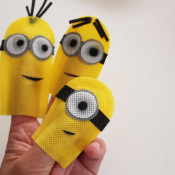 finished Minion Finger Puppets