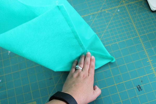 fold corner out