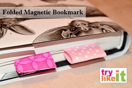 folded magnetic bookmark