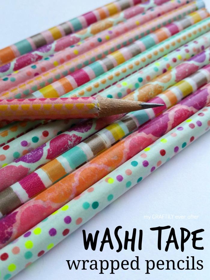 washi-tape-wrapped-pencils