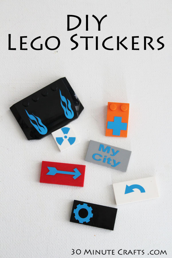 DIY Lego Stickers cut from Vinyl