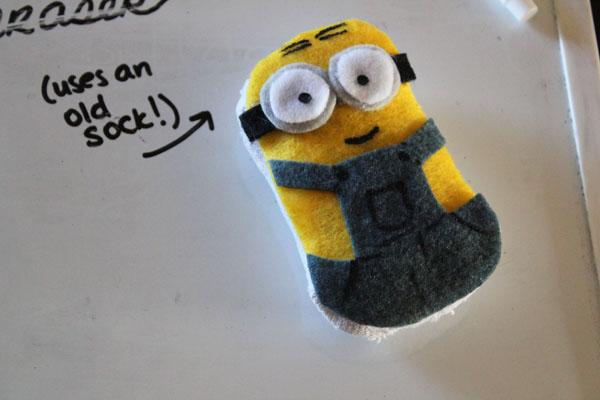 Minion Dry Erase Board Eraser