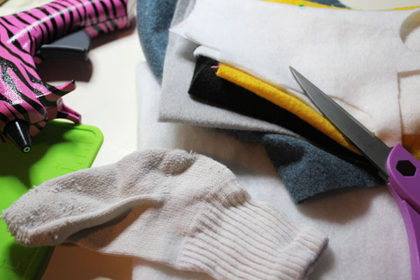 supplies for DIY Minion Dry Erase Board Eraser