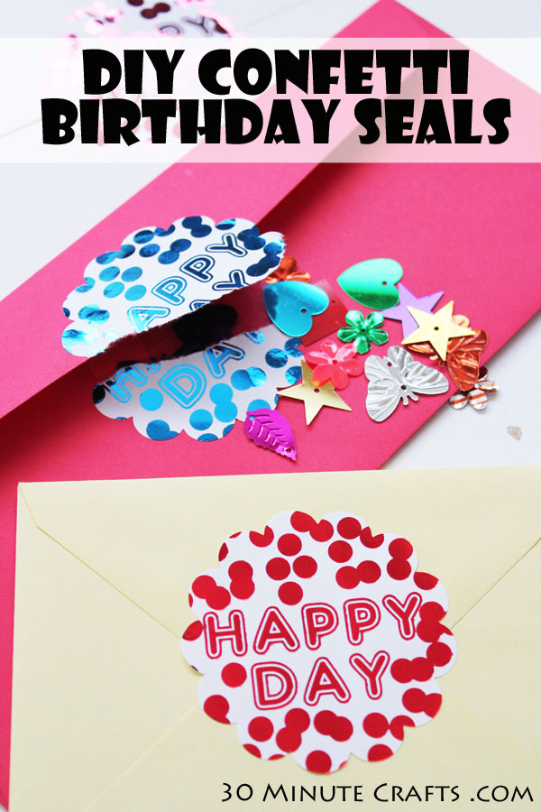 DIY Confetti Birthday Seals