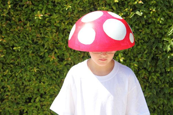 diy costume mushroom in 15 minutes