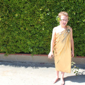 Simple No-Sew Toga Costume