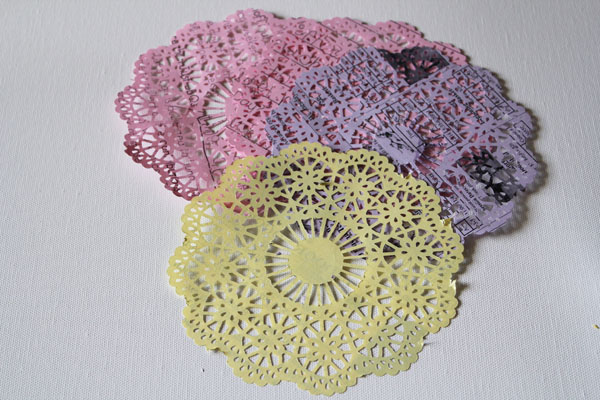 doilies made from school flyers