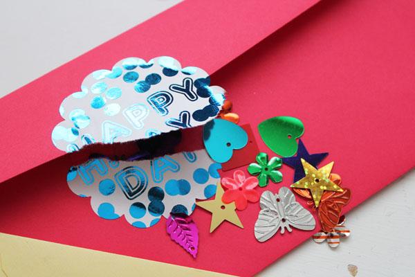 foiled confetti birthday seals