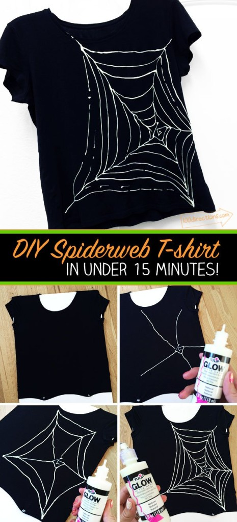 spider-web-t-shirt-steps