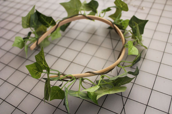 wrap ivy on headband