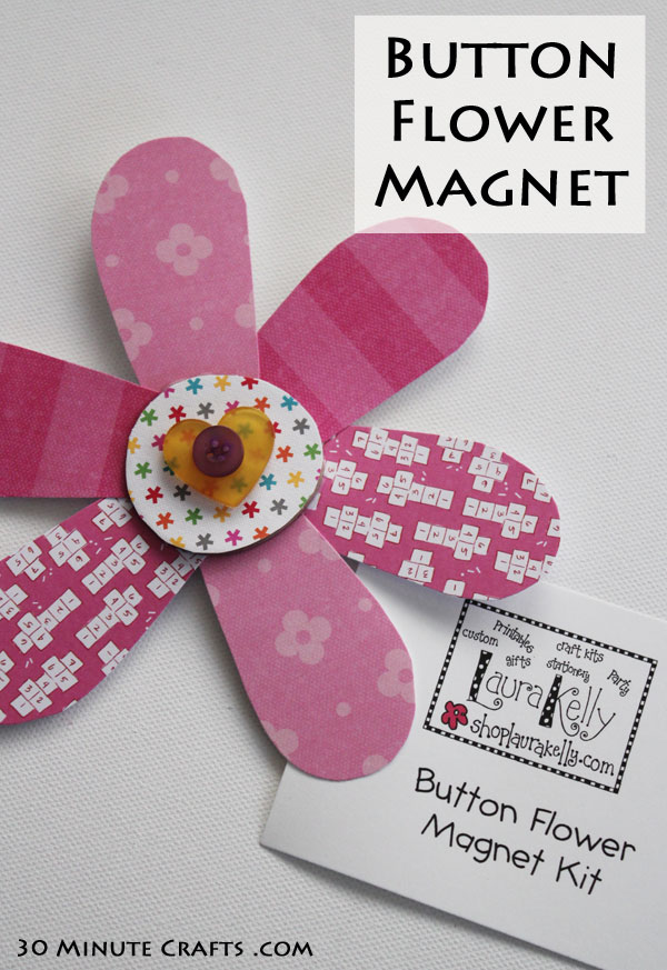 Button Flower Magnet Kit