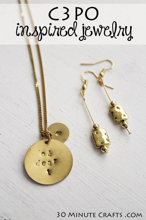 C3PO Inspired Jewelry