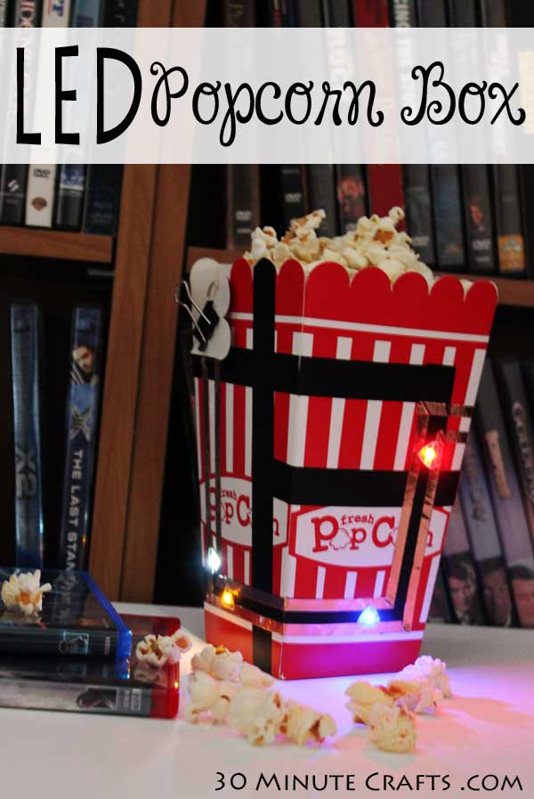 DIY LED Popcorn Box