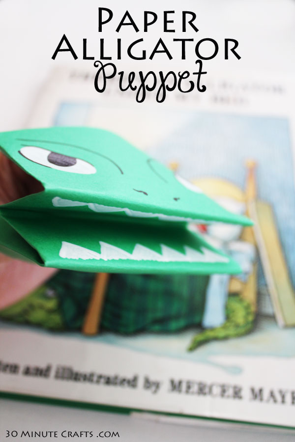Paper Alligator Puppet