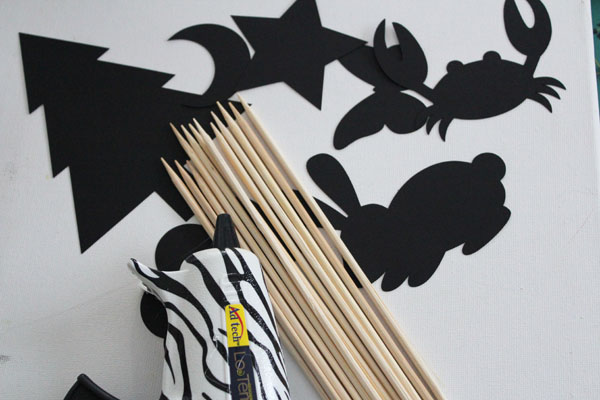 supplies for shadow puppets