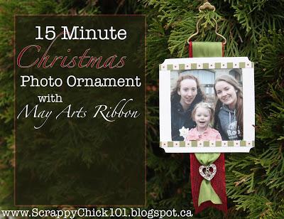 15 minute photo ornament