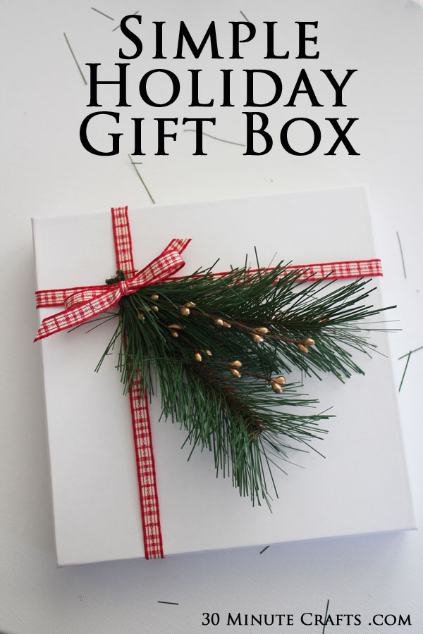 Simple Holiday Gift Box