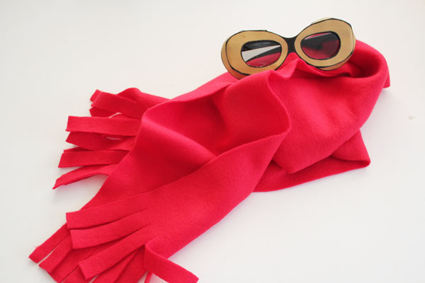 finished flying ace scarf and goggles
